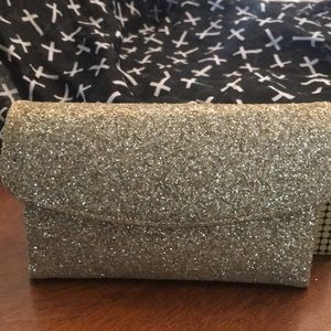 Handbags - Vintage gold glitter clutch